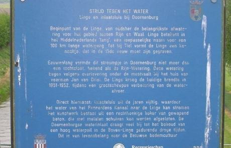 Bord Strijd tegen het water bij Doornenburg