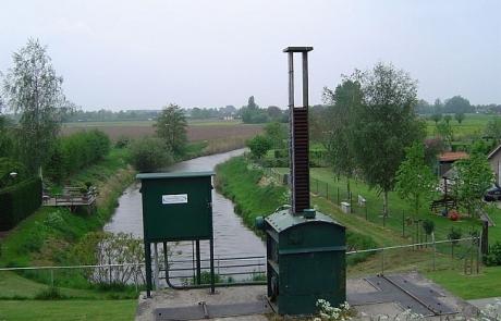 De huidige oorsprong van de Linge bij Doornenburg