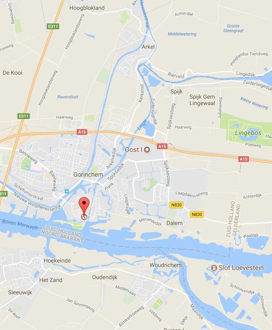 Eindpunt van de Linge in Gorinchem