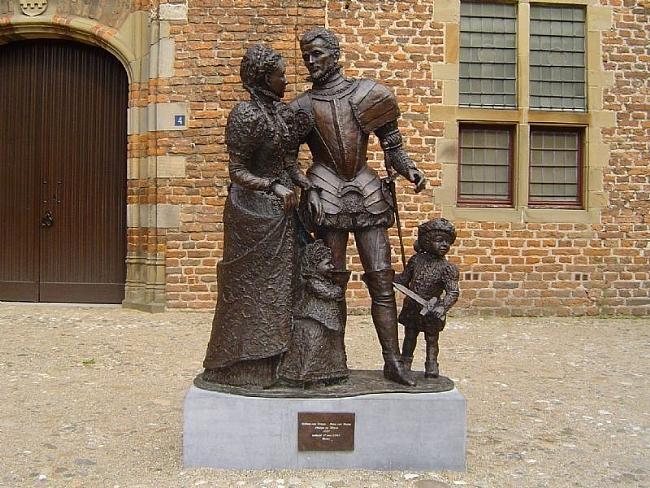 Prins Willem van Oranje met Anna van Buren en kinderen