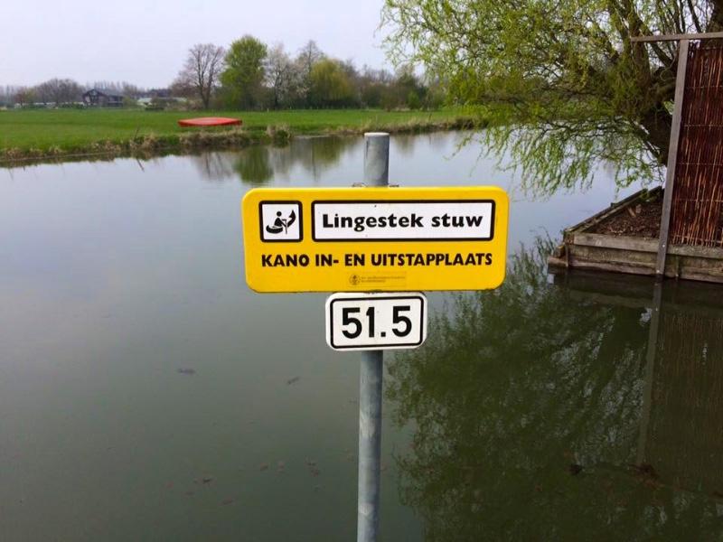 Lingestek-stuw-kano-instapplaats