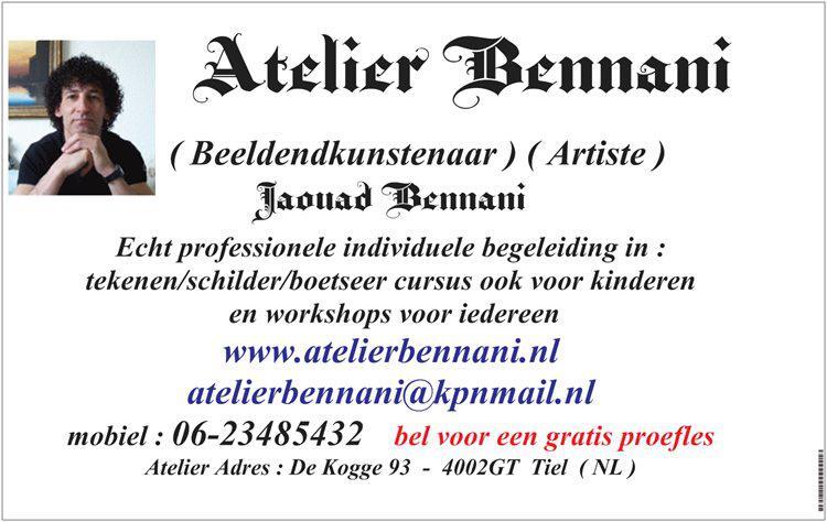 Atelier-Bennani-visitekaartje