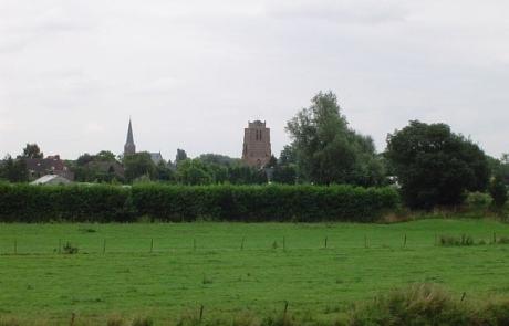 Skyline van Beesd vanuit buurdorp Rumpt