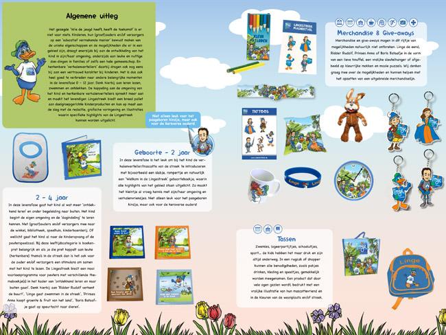 Themaboekjes en Merchandise van de LinkeKids en Lingestreek