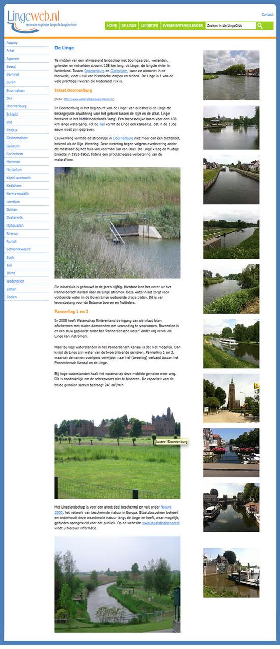 Lingeweb, sinds het jaar 2000 het eerste platform van en voor de streek