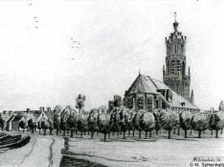 Schets Grote Kerk in Elst